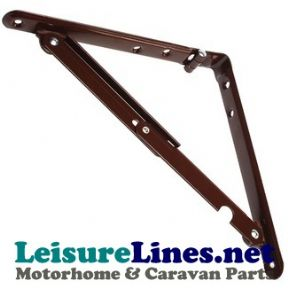 200mm FOLDING SHELF FLAT SUPPORT BROWN